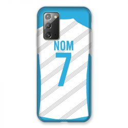 Coque Pour Samsung Galaxy Note 20 Personnalisee Maillot Football Olympique Marseille Domicile