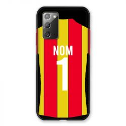 Coque Pour Samsung Galaxy Note 20 Personnalisee Maillot Football RC Lens