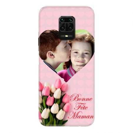Coque Pour Xiaomi Redmi Note 9S / 9 Pro Personnalisee Fete Des Meres Coeurs Roses