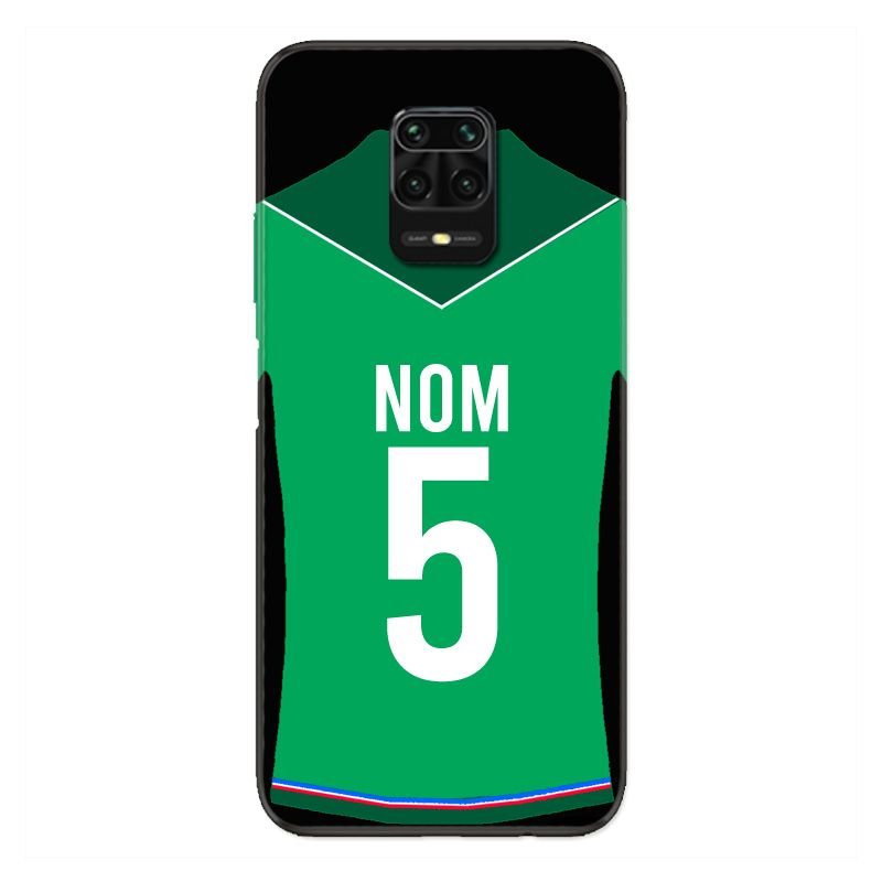Coque Pour Xiaomi Redmi Note 9S / 9 Pro Personnalisee Maillot Football AS Saint Etienne