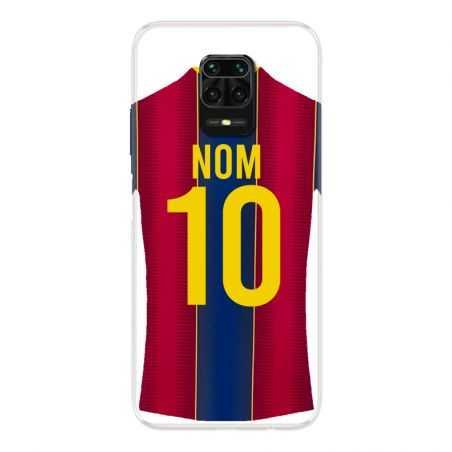 Coque Pour Xiaomi Redmi Note 9S / 9 Pro Personnalisee Maillot Football FC Barcelone