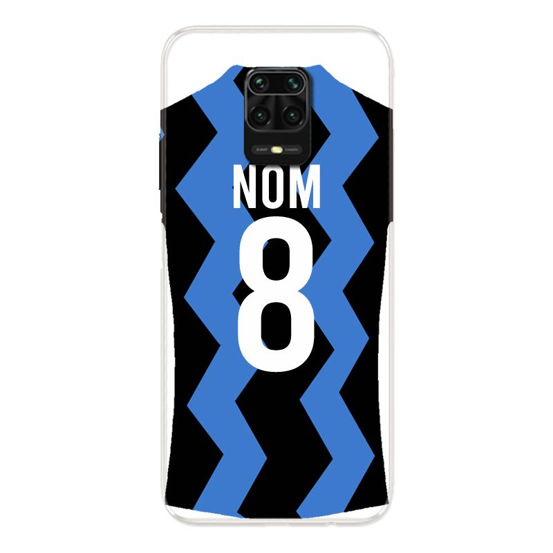 Coque Pour Xiaomi Redmi Note 9S / 9 Pro Personnalisee Maillot Football FC Inter Milan