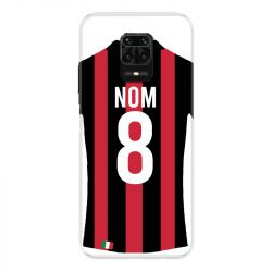 Coque Pour Xiaomi Redmi Note 9S / 9 Pro Personnalisee Maillot Football Milan AC