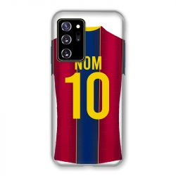 Coque Pour Samsung Galaxy Note 20 Ultra Personnalisee Maillot Football FC Barcelone