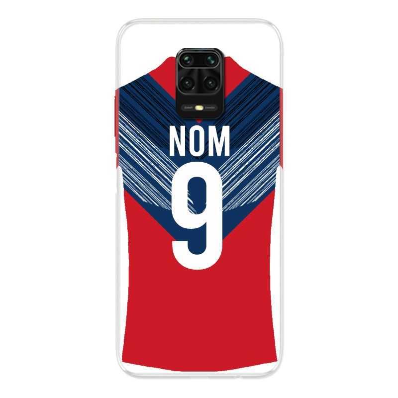 Coque Pour Xiaomi Redmi Note 9S / 9 Pro Personnalisee Maillot Football LOSC Lille
