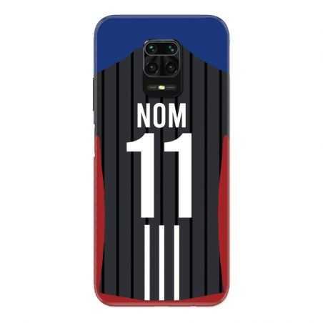 Coque Pour Xiaomi Redmi Note 9S / 9 Pro Personnalisee Maillot Football Olympique Lyonnais Exterieur