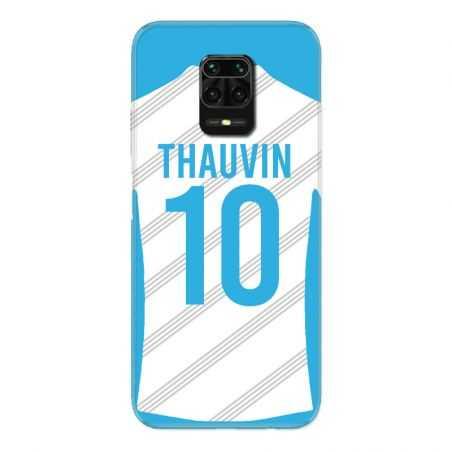 Coque Pour Xiaomi Redmi Note 9S / 9 Pro Personnalisee Maillot Football Olympique Marseille Domicile