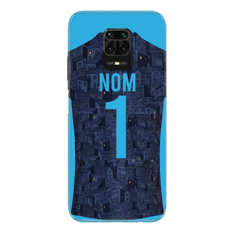Coque Pour Xiaomi Redmi Note 9S / 9 Pro Personnalisee Maillot Football Olympique Marseille Exterieur