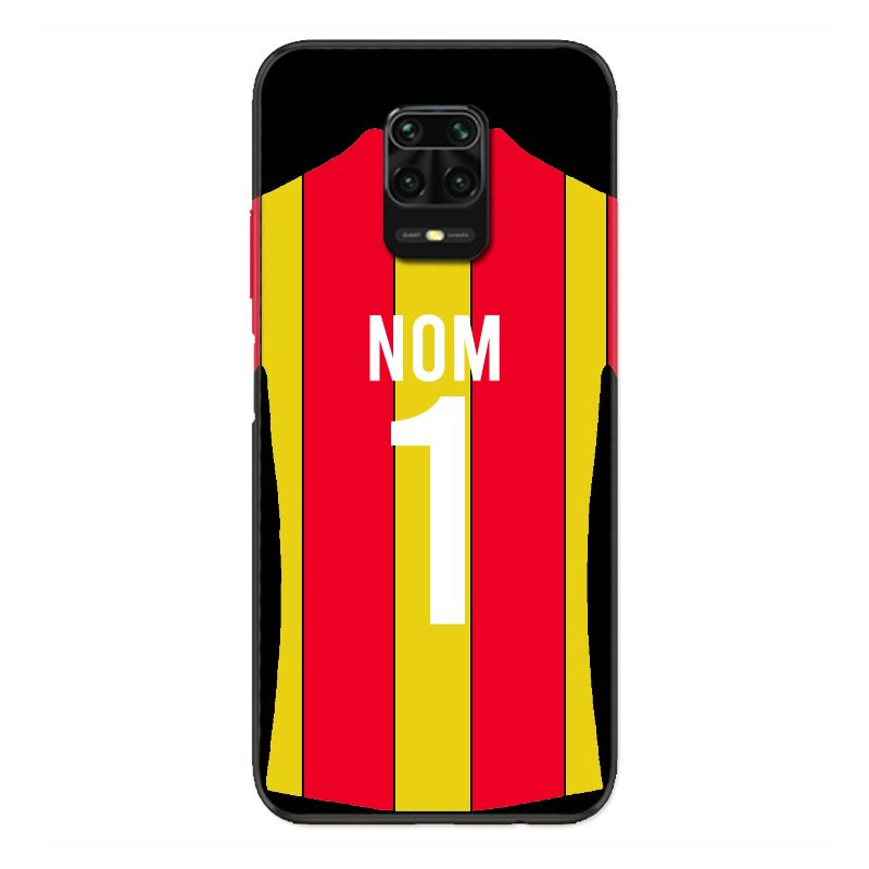 Coque Pour Xiaomi Redmi Note 9S / 9 Pro Personnalisee Maillot Football RC Lens