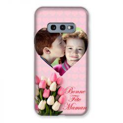 Coque Pour Samsung Galaxy S10e Personnalisee Fete Des Meres Coeurs Roses
