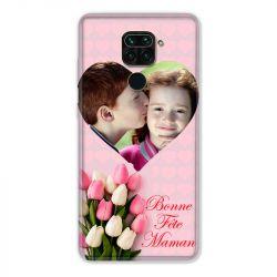 Coque Pour Xiaomi Redmi Note 9 Personnalisee Fete Des Meres Coeurs Roses