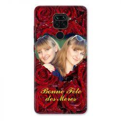Coque Pour Xiaomi Redmi Note 9 Personnalisee Fete Des Meres Roses Rouges