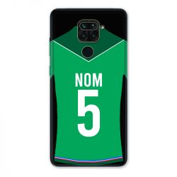 Coque Pour Xiaomi Redmi Note 9 Personnalisee Maillot Football AS Saint Etienne