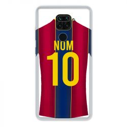 Coque Pour Xiaomi Redmi Note 9 Personnalisee Maillot Football FC Barcelone