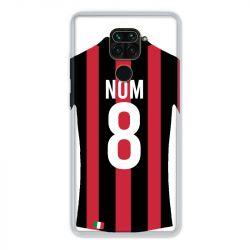 Coque Pour Xiaomi Redmi Note 9 Personnalisee Maillot Football Milan AC