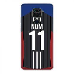 Coque Pour Xiaomi Redmi Note 9 Personnalisee Maillot Football Olympique Lyonnais Exterieur