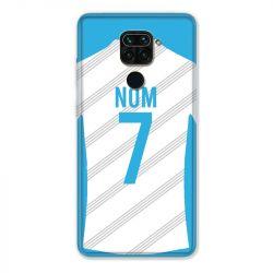 Coque Pour Xiaomi Redmi Note 9 Personnalisee Maillot Football Olympique Marseille Domicile