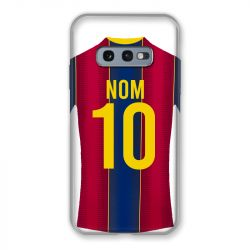 Coque Pour Samsung Galaxy S10e Personnalisee Maillot Football FC Barcelone