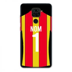 Coque Pour Xiaomi Redmi Note 9 Personnalisee Maillot Football RC Lens