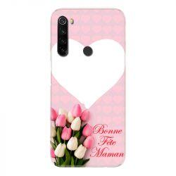 Coque Pour Xiaomi Redmi Note 8T Personnalisee Fete Des Meres Coeurs Roses