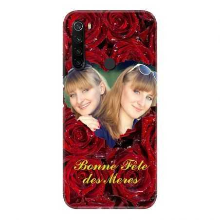 Coque Pour Xiaomi Redmi Note 8T Personnalisee Fete Des Meres Roses Rouges
