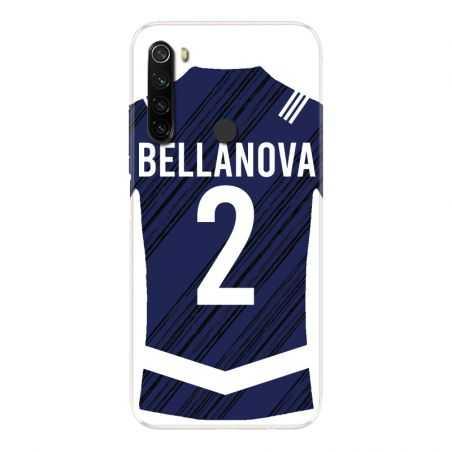 Coque Pour Xiaomi Redmi Note 8T Personnalisee Maillot Footbal Girondins Bordeaux
