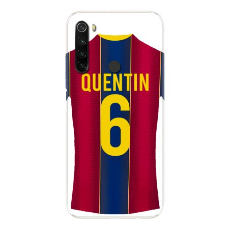 Coque Pour Xiaomi Redmi Note 8T Personnalisee Maillot Football FC Barcelone