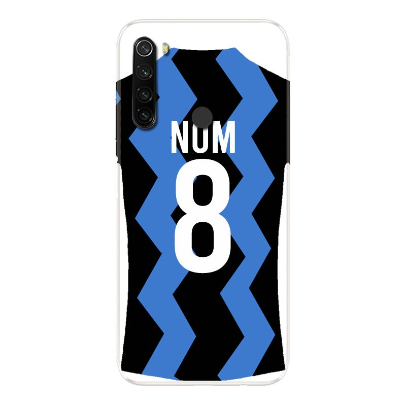 Coque Pour Xiaomi Redmi Note 8T Personnalisee Maillot Football FC Inter Milan