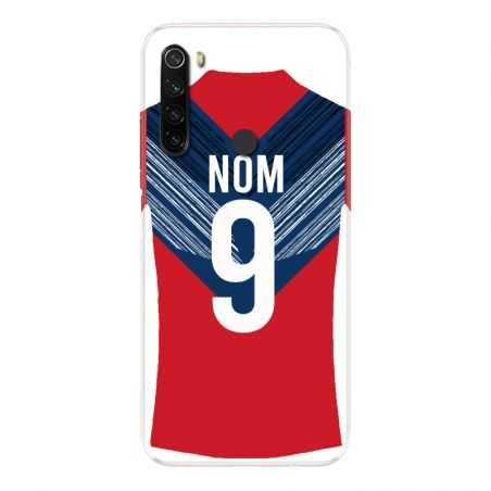 Coque Pour Xiaomi Redmi Note 8T Personnalisee Maillot Football LOSC Lille