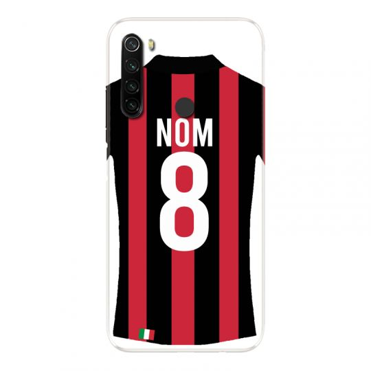 Coque Pour Xiaomi Redmi Note 8T Personnalisee Maillot Football Milan AC