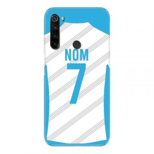 Coque Pour Xiaomi Redmi Note 8T Personnalisee Maillot Football Olympique Marseille Domicile