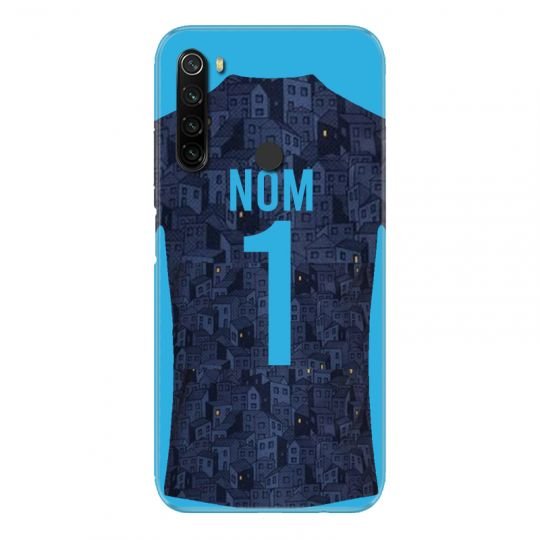 Coque Pour Xiaomi Redmi Note 8T Personnalisee Maillot Football Olympique Marseille Exterieur