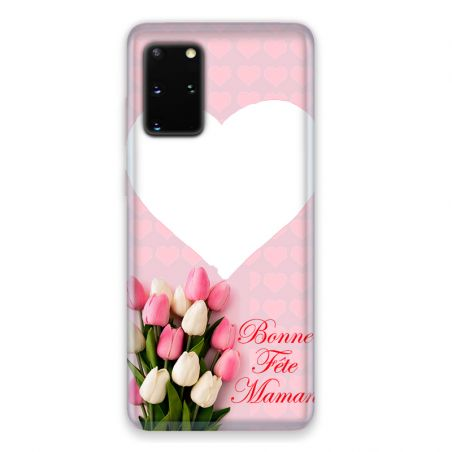 Coque Pour Samsung Galaxy S20 Personnalisee Fete Des Meres Coeurs Roses