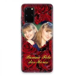 Coque Pour Samsung Galaxy S20 Personnalisee Fete Des Meres Roses Rouges