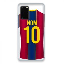 Coque Pour Samsung Galaxy S20 Personnalisee Maillot Football FC Barcelone