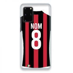Coque Pour Samsung Galaxy S20 Personnalisee Maillot Football Milan AC