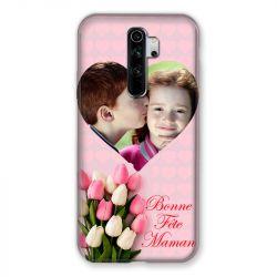 Coque Pour Xiaomi Redmi Note 8 Pro Personnalisee Fete Des Meres Coeurs Roses