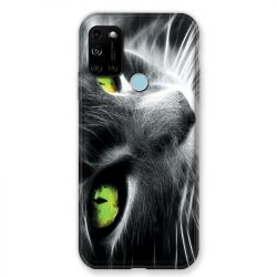 Coque Pour Wiko View 5 / View 5 Plus Chat Vert