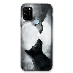 Coque Pour Wiko View 5 / View 5 Plus Loup Duo