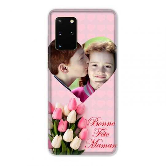 Coque Pour Samsung Galaxy S20 Plus Personnalisee Fete Des Meres Coeurs Roses