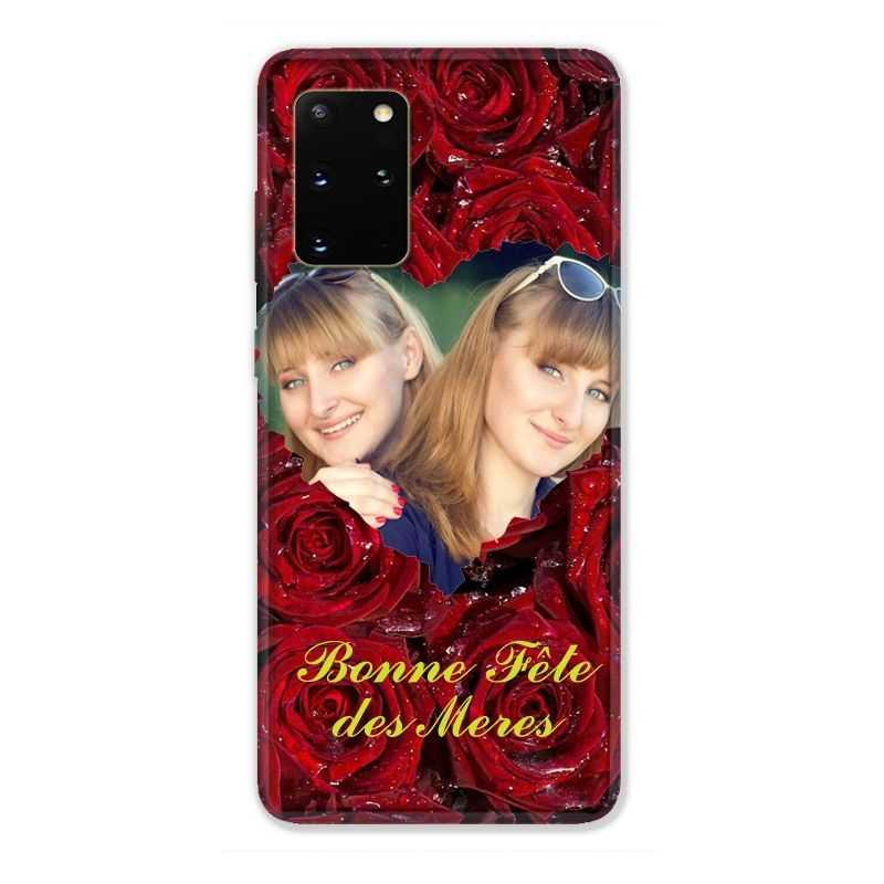 Coque Pour Samsung Galaxy S20 Plus Personnalisee Fete Des Meres Roses Rouges