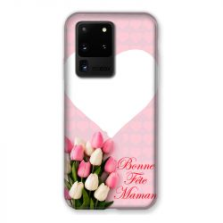 Coque Pour Samsung Galaxy S20 Ultra Personnalisee Fete Des Meres Coeurs Roses
