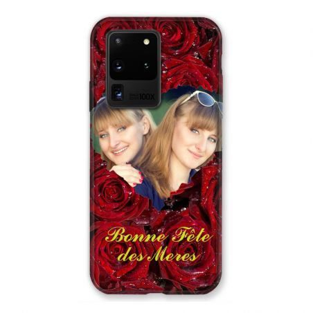 Coque Pour Samsung Galaxy S20 Ultra Personnalisee Fete Des Meres Roses Rouges