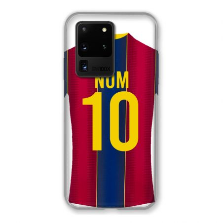 Coque Pour Samsung Galaxy S20 Ultra Personnalisee Maillot Football FC Barcelone