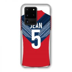 Coque Pour Samsung Galaxy S20 Ultra Personnalisee Maillot Football LOSC Lille