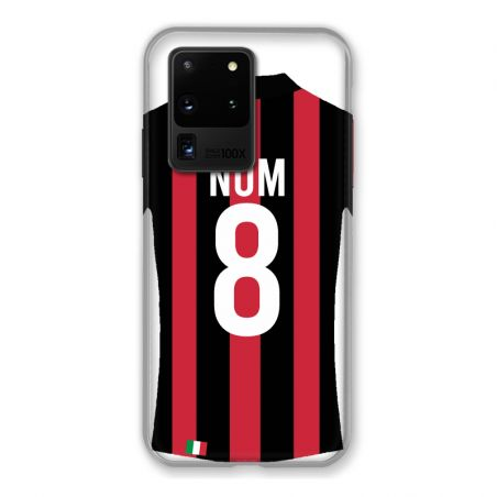 Coque Pour Samsung Galaxy S20 Ultra Personnalisee Maillot Football Milan AC