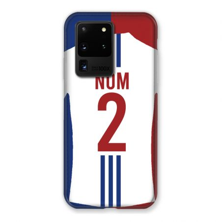 Coque Pour Samsung Galaxy S20 Ultra Personnalisee Maillot Football Olympique Lyonnais Domicile
