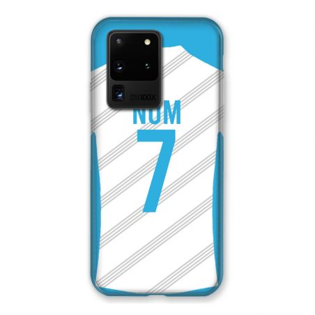 Coque Pour Samsung Galaxy S20 Ultra Personnalisee Maillot Football Olympique Marseille Domicile