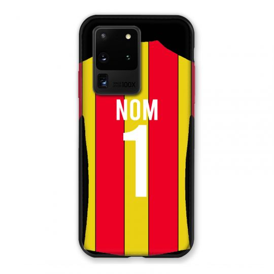Coque Pour Samsung Galaxy S20 Ultra Personnalisee Maillot Football RC Lens
