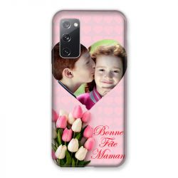 Coque Pour Samsung Galaxy S20 FE / S20FE personnalisee Fete Des Meres Coeurs Roses